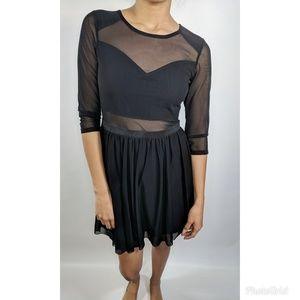 Silence + Noise Mesh top sweetheart Dress #142